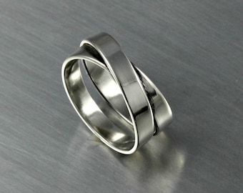 Eternity Ring, Infinity Ring, Wide Ring, Silver Ring