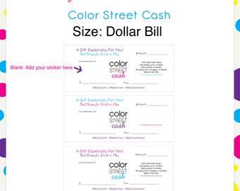 Color Street Cash Style 1 --Instant Digital Download
