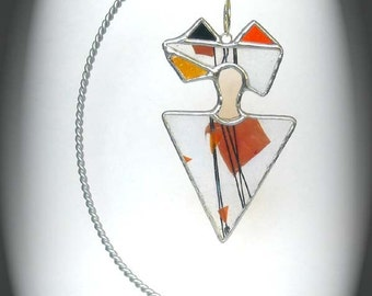 Stained Glass Peaceful Spirit Sun Catcher Ornament