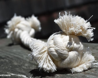 Small // All Natural Cotton Rope Bone - Dog Toy