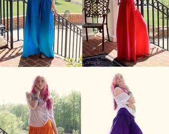 CUSTOM MADE Pants, Palazzo Pants, Wide Leg, Wide Skirt, Maxi Skirt, Lounge Pants, Comfy Pants, Pajama Pants
