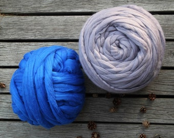 Giant Merino Wool Yarn, Arm Knitting, Chunky Yarn, Mega Bulky Yarn, Wool Yarn, Unspun Wool Roving, Extreme Merino Wool, Weaving, Felting