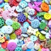 300 grams 1000+ Mixed Shapes Colours Buttons New Wooden Resin Buttons