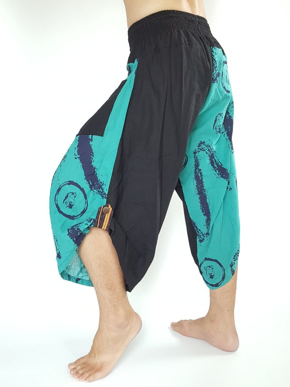 HC0087 Samurai Pants - elastic waistband Fits all! Unisex pants These beautiful casual pants is unique & comfortable to wear 3v5koZ4Lh
