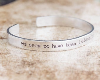 We Seem To Have Been Designed For Each Other / Pride And Prejudice Gift / Romantic Gift / Engagement Gift / Literary Jewelry / Austen Gift