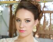 Bridal Earrings Gold Wedd...