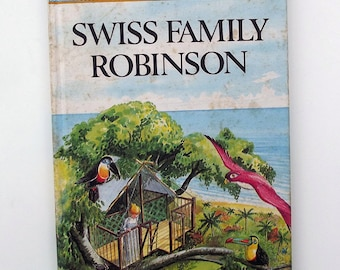 Vintage Ladybird Book - Swiss Family Robinson- good vintage condition- children's story Book