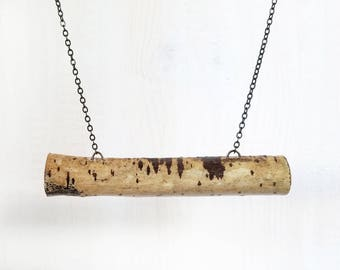 REAL BRANCH BAR || nature jewelry branch pendant necklace