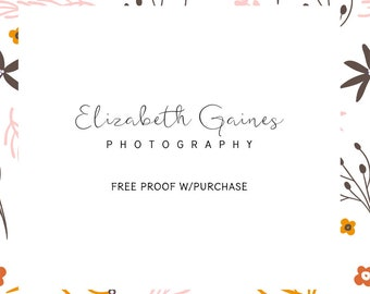 Custom Personalized Photography Business Stamp features your business name.   Mounted with Handle or Self-Inking - 20448