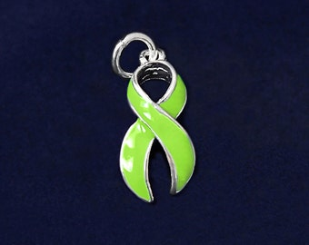 Large Lime Green Ribbon Charm (RE-CHARM-01-9)