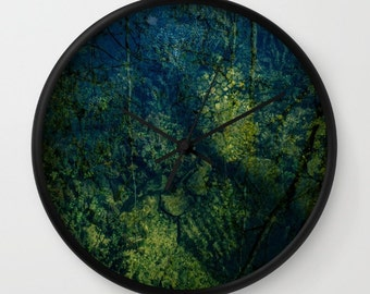 Blue and Green Decorative Wall Clock