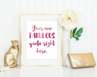 Custom Watercolor Quote / Custom Handwritten Quote Print / Personalized Print / Custom Quote / 5x7, 8x10, 11x14, 13x19 /  Lots of Colors!