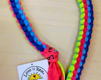 Dog Toy with Tennis Ball-Dog Pull Toy-Interactive Dog Toy-T Shirt Dog Toy-Lanyard Dog Toy-Love is Real-Dog Tug Toy-Dog Lovers Gift-Puppy Toy