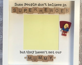 super mum superwoman scrabble art frame for a special mummy sister auntie nan cousin daughter etc mothers day christmas birthday present