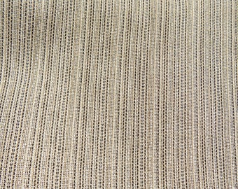 Brown Beige fabric material -strip fabric -sewing material by the yard - fabric yardage - dress fabric -brown fabric - 3 1/2 yards -# F 4