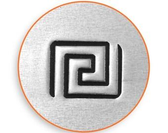 6mm Greek Key Metal Stamp, ImpressArt Shape & Pattern Design Stamp, Impress Art Stamps, DIY Jewelry Making Metal Stamping Tools, Supplies