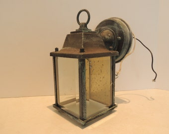 Coach Light, Porch Light, Door Light, Simulated Copper Verdigris, Mounting  Bracket Included