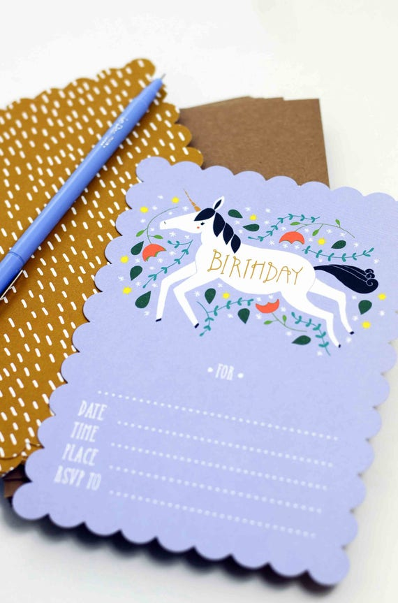 Unicorn Birthday Party Invitations Blank Birthday