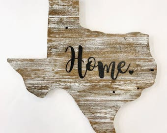 Rustic Texas sign *Personalized