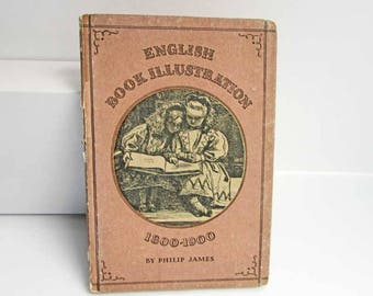 Vintage 1947 English Book Illustrations 1800-1900 Book by Philip James, Loads of  Illustrations, Pictorial Cover, Illustrated Book