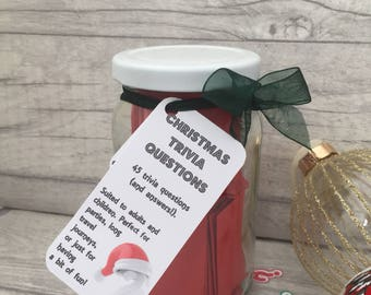 Christmas Trivia - Jam Packed Jar - Quizzes - Questions - Christmas Day Game - After Dinner Game - Christmas - Stocking Filler - Family Game