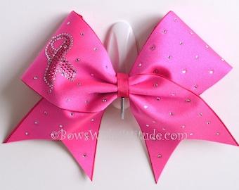 Rhinestone Breast Cancer Awareness Hot Pink