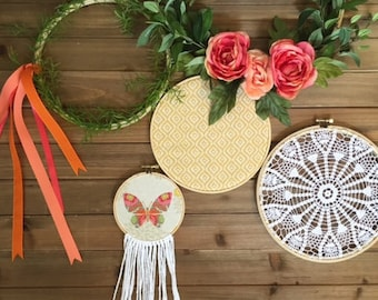 Craft & Lavender Craft-in-a-box: Summertime Hoop Wall Art