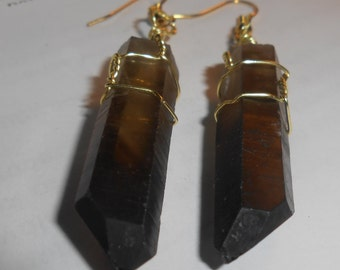 Earrings Smokey Quartz Earrings Crystal Earrings Natural Earrings Healing Earrings Wire Wrapped Earrings Handmade Earrings Dangle Earrings