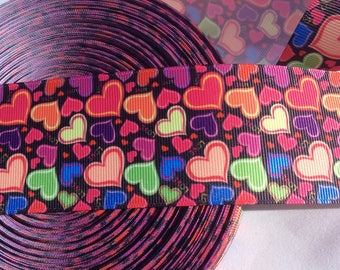 Valentines Day Ribbon, Heart Ribbon, 2 inch wide Ribbon, Valentines Day Bow, Hair Bow Ribbon