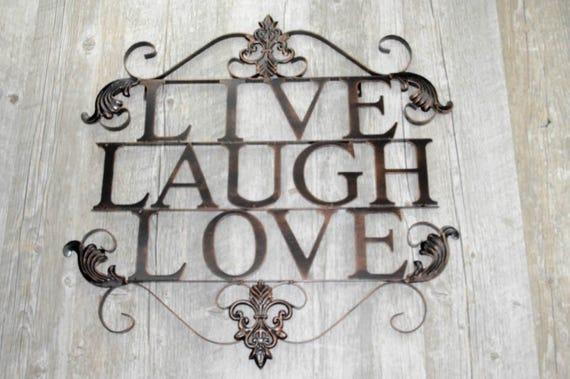 Live Laugh Love Metal Wall Art