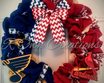 St. Louis Wreath!! Show your love of both the Cardinals and Blues!