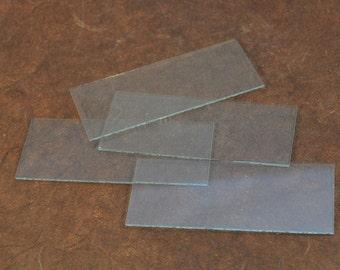 "Glass Blanks - 1.25""x3"" - Retangle Glass Blanks - Perfect for Jewelry design"