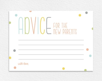 Advice for the New Parents, Baby Shower Advice Card, Baby Shower Wishes, Baby Shower Game, Baby Shower Ideas, PDF Instant Download #BPB93_5