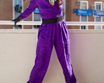 Vintage Purple Silk Playsuit