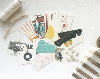 Gift Tags - Hang Tags - Letterpress Printed - Handmade - Hand Printed