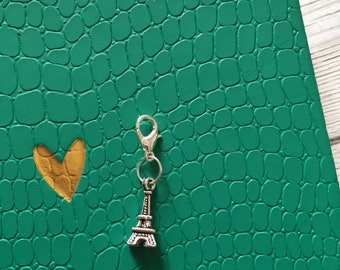 Paris planner charm, eiffiel tower planner charm, planner clip, stocking filler, gift for planner addict, notebook charm, planner charm