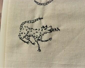 Possum yell cross stitch design