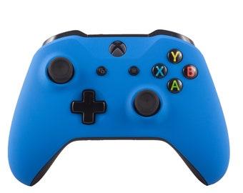 New Microsoft Xbox One S Wireless Bluetooth Controller Custom Soft Touch Blue