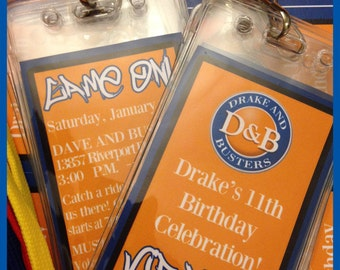 DIY Custom Dave and Busters Inspried VIP Passes Badges for