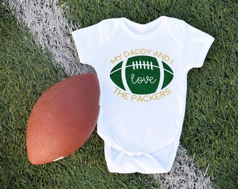Green Bay Packers / Football / Baby Bodysuit / Sports Team / Packers Baby / Baby Clothes / Game Day / NFL / Football with Daddy