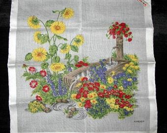 Kreier Hankie Handkerchief Cotton Handkerchief, Hankies - Vintage Flower Hanky