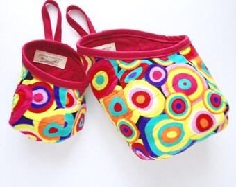 Fabric Hanging Storage Basket, Dog Toy Storage Bag, Door Knob Basket, School Locker Organization, Desk Decor, Make-up Bag Organizer