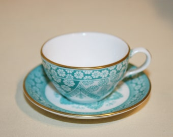 Miniature Cup by Spode of England/Green Chintz Pattern/Traditional English China/ Tea Set for Weddings/ Bridesmaid Luncheon/ Tea Parties/