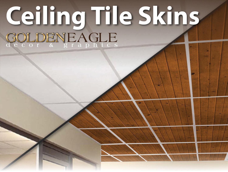 Ceiling Tile Skin Glue Up Medium Knotty Pine Wood Decorative