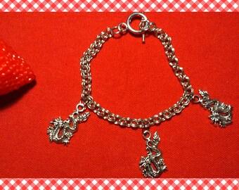 Pretty Asian dragons style gorgeous chain bracelet!