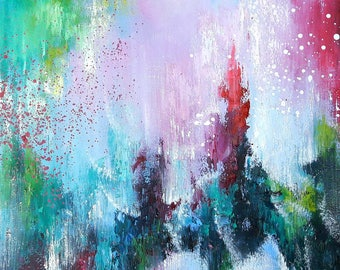 Pink painting Pink abstract Pink oil painting Pink art pink abstract art Abstract painting Pink wall art Abstract art