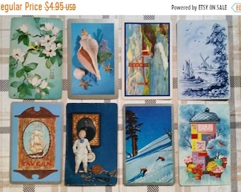 ON SALE Vintage Blue Playing Cards Lot Collection No.2