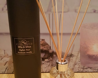 Reed Diffuser in Clear Round Jar with Gift Box