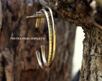 Bronze Cuff Bracelet - Bronze Bracelet - Smooth Or Textured Cuff - Metal Skinny Cuff - Artisan Jewelry - Minimalist Stacking Bracelets