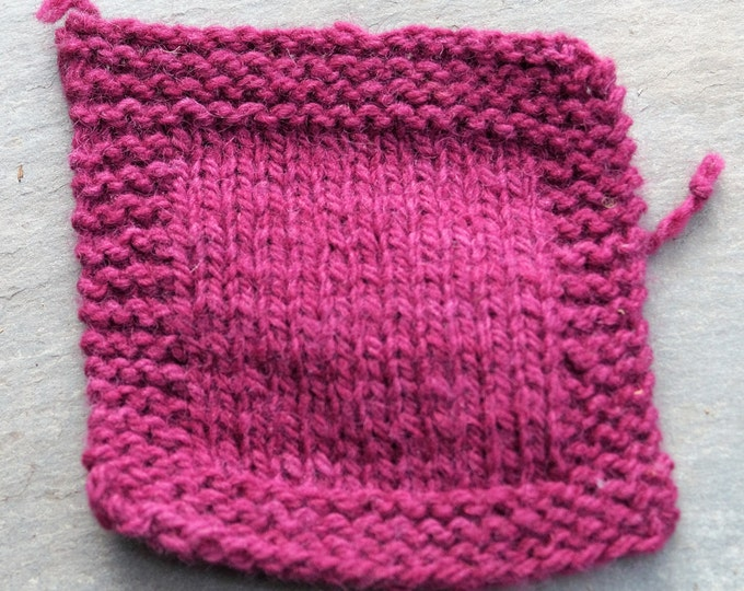 RASPBERRY worsted 2 ply wool yarn 230 yd skein